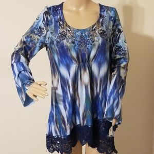 One World Tie-Dye Tunic Top New With Tags